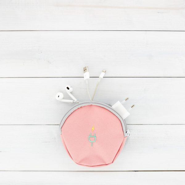 Kleine Reisekabeltasche rosa